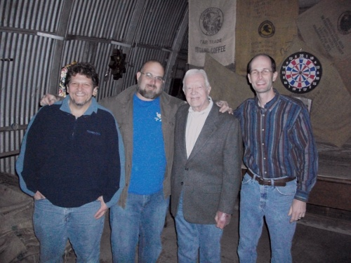 Homebrewers with Jimmy Carter